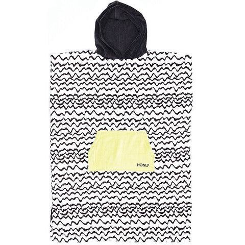 Ladies Waves Hooded Poncho