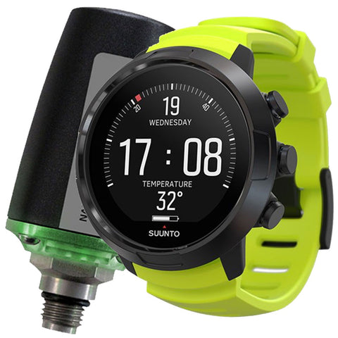 D5 Black Lime Dive Computer with USB and Tank Pod