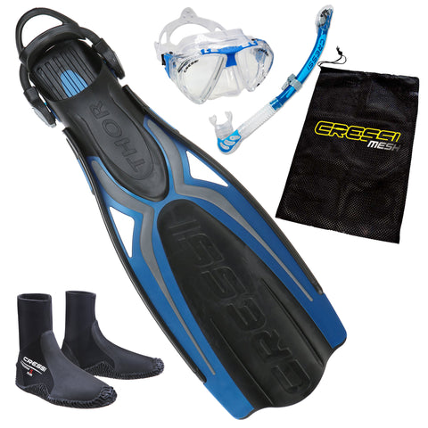 Cressi Elite Snorkeling Package Blue