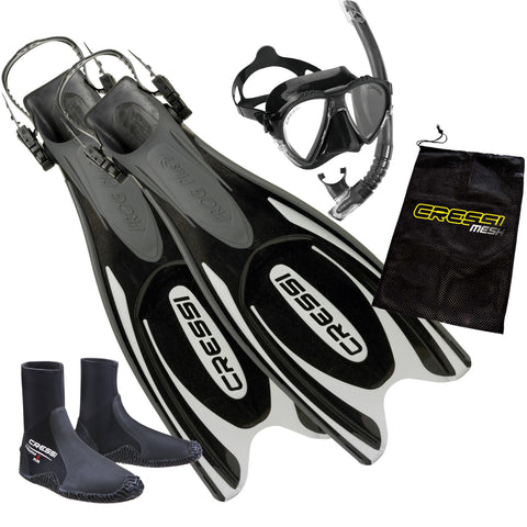Cressi Frog Snorkeling Package Black