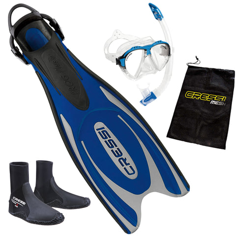 Cressi Frog Snorkeling Package Blue