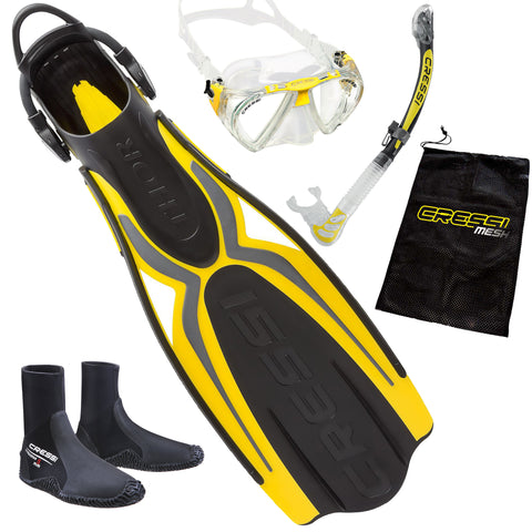 Cressi Elite Snorkeling Package Yellow
