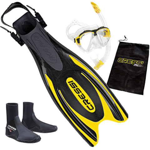 Cressi Frog Snorkeling Package Yellow