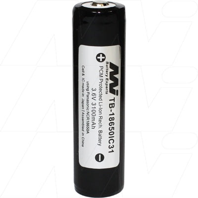 18650 (3.1Ah) Lithium ion rechargeable battery