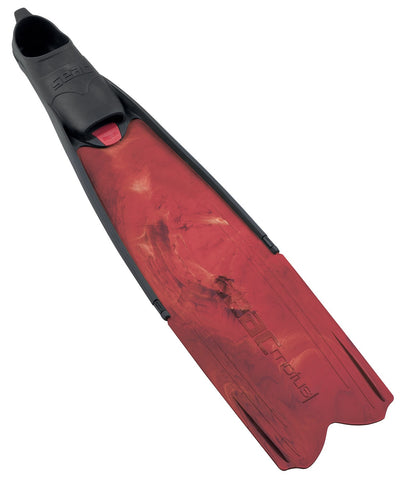 Motus Red Camo Freediving Fins (size 43/44)