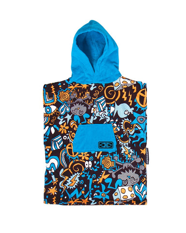 Toddler Hippy Skull Hooded Poncho