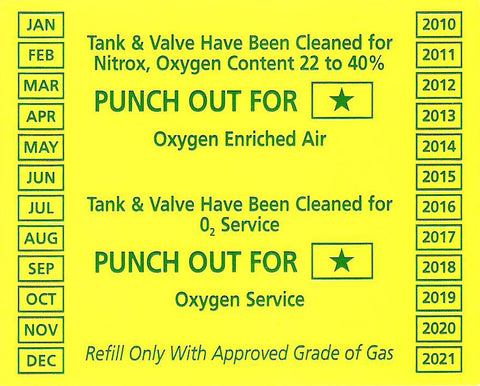 Oxygen Clean Sticker