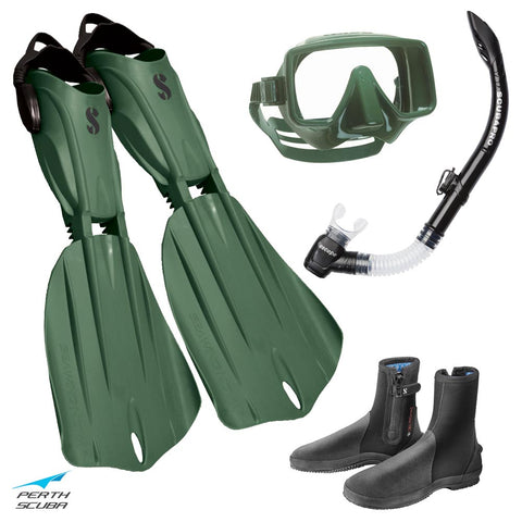 Seawing Gorilla Snorkeling Package Army Green