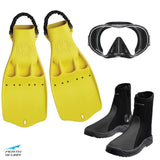 Tec Jet Mask, Boots and Fins Package Yellow