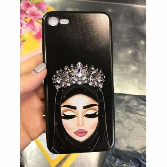 The Original Hijab Queen iPhone Case Made Of Smooth Silicone