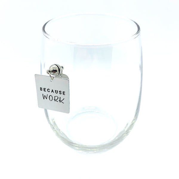 "Stemless Wine Charms - ""Because"" Set"