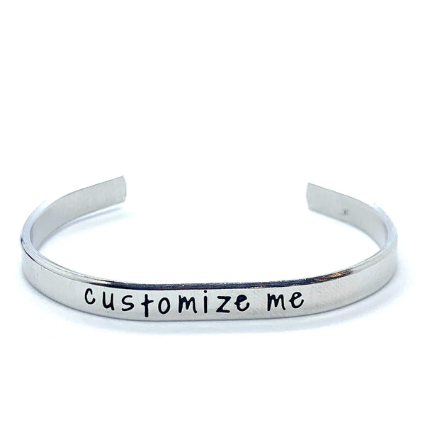 ¼ inch Aluminum Cuff - Custom Cuff (inside and outside)