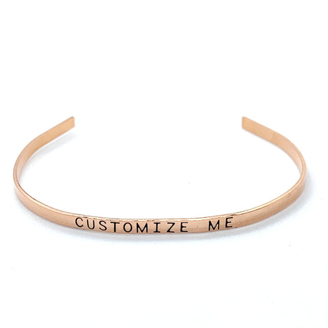 ⅛ inch Copper Cuff - Custom Cuff (inside and outside)