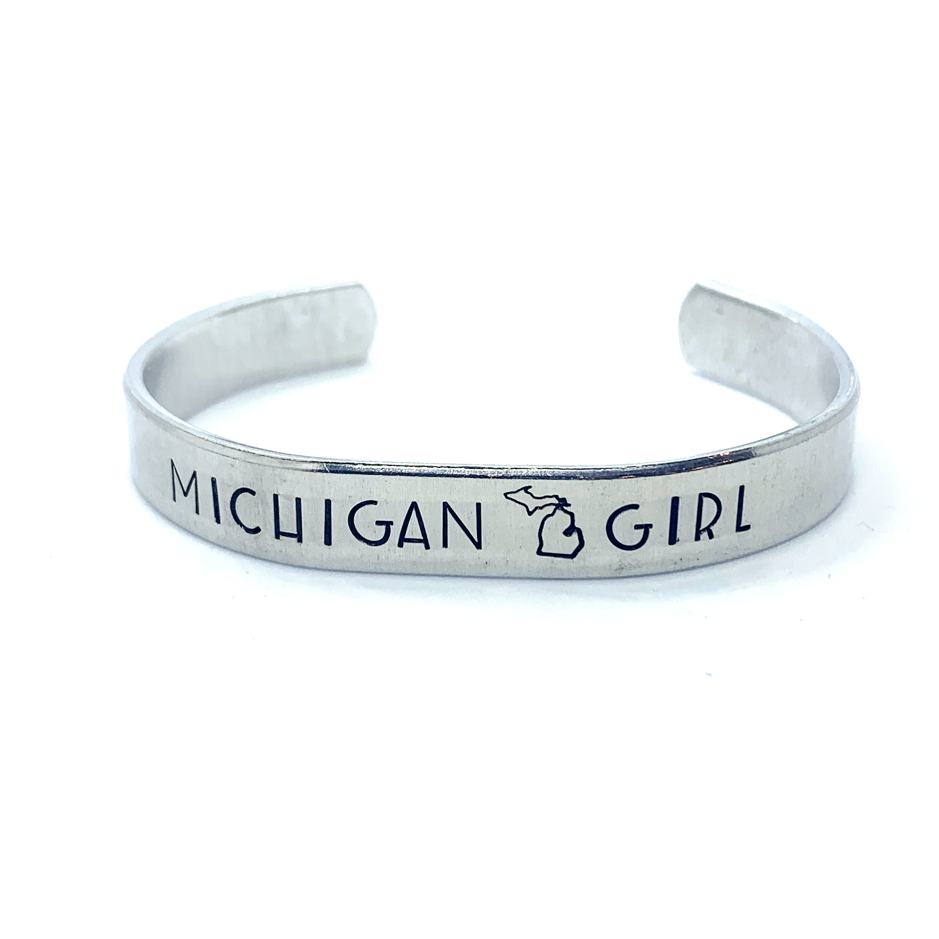 ⅜ inch Aluminum Cuff - Michigan Girl