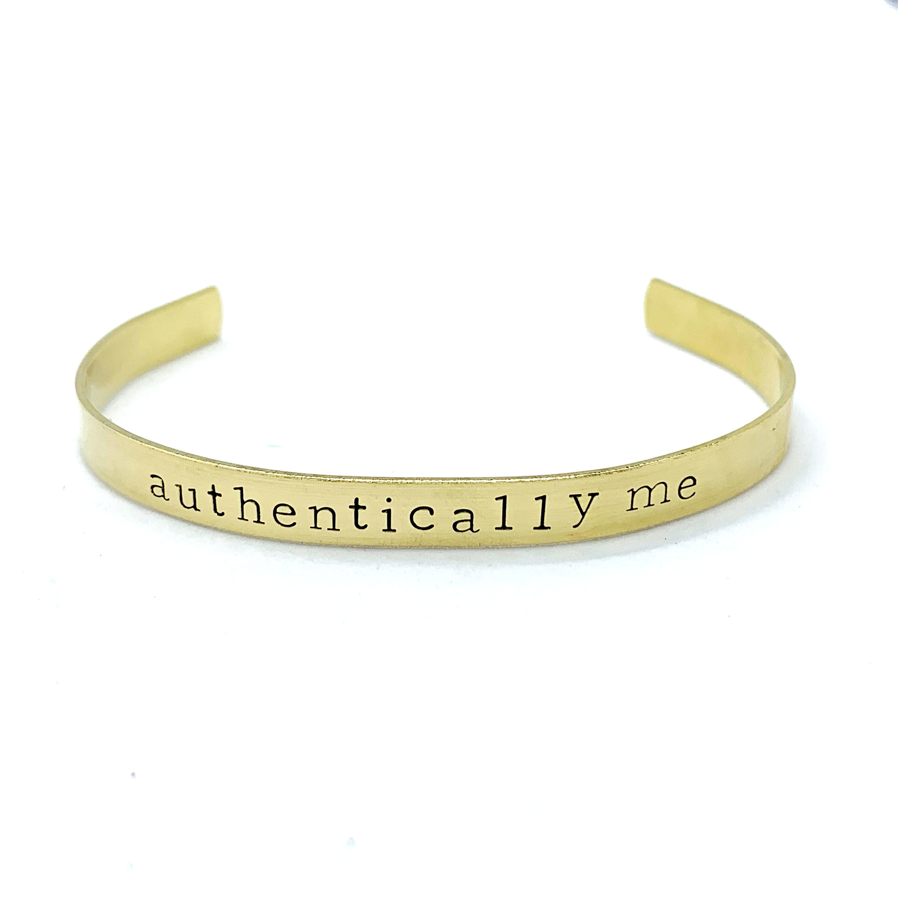 ¼ inch Brass Cuff - Authentically Me