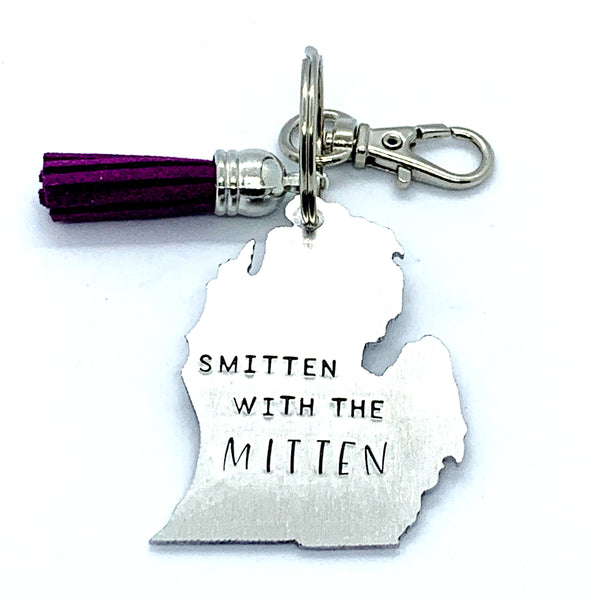 Key Chain - Michigan Shape - Smitten With The Mitten