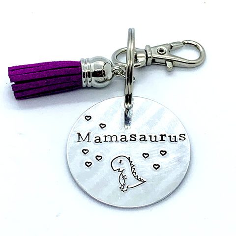 Key Chain - Circle Shape - Mamasaurus