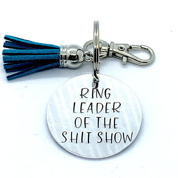 Key Chain - Circle Shape - Rink Leader Of The Shit Show