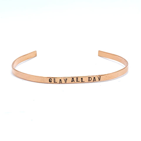 ⅛ inch Copper Cuff - Slay All Day
