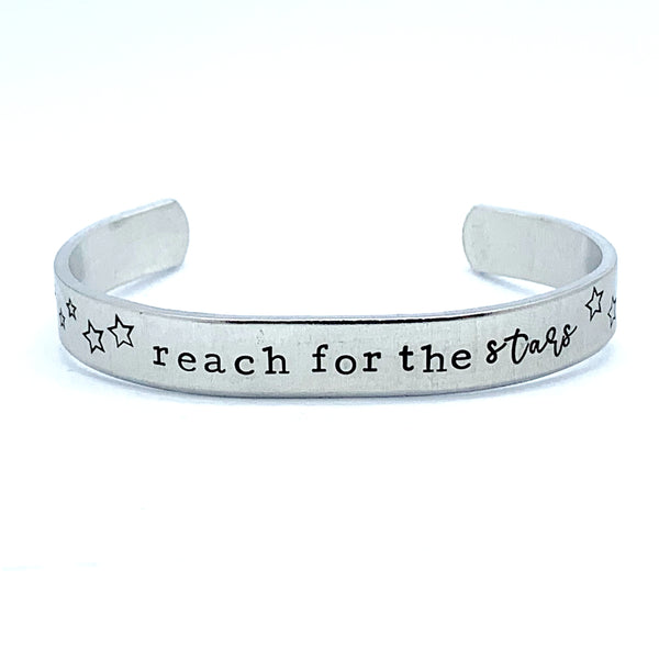 ⅜ inch Aluminum Cuff - Reach For The Stars