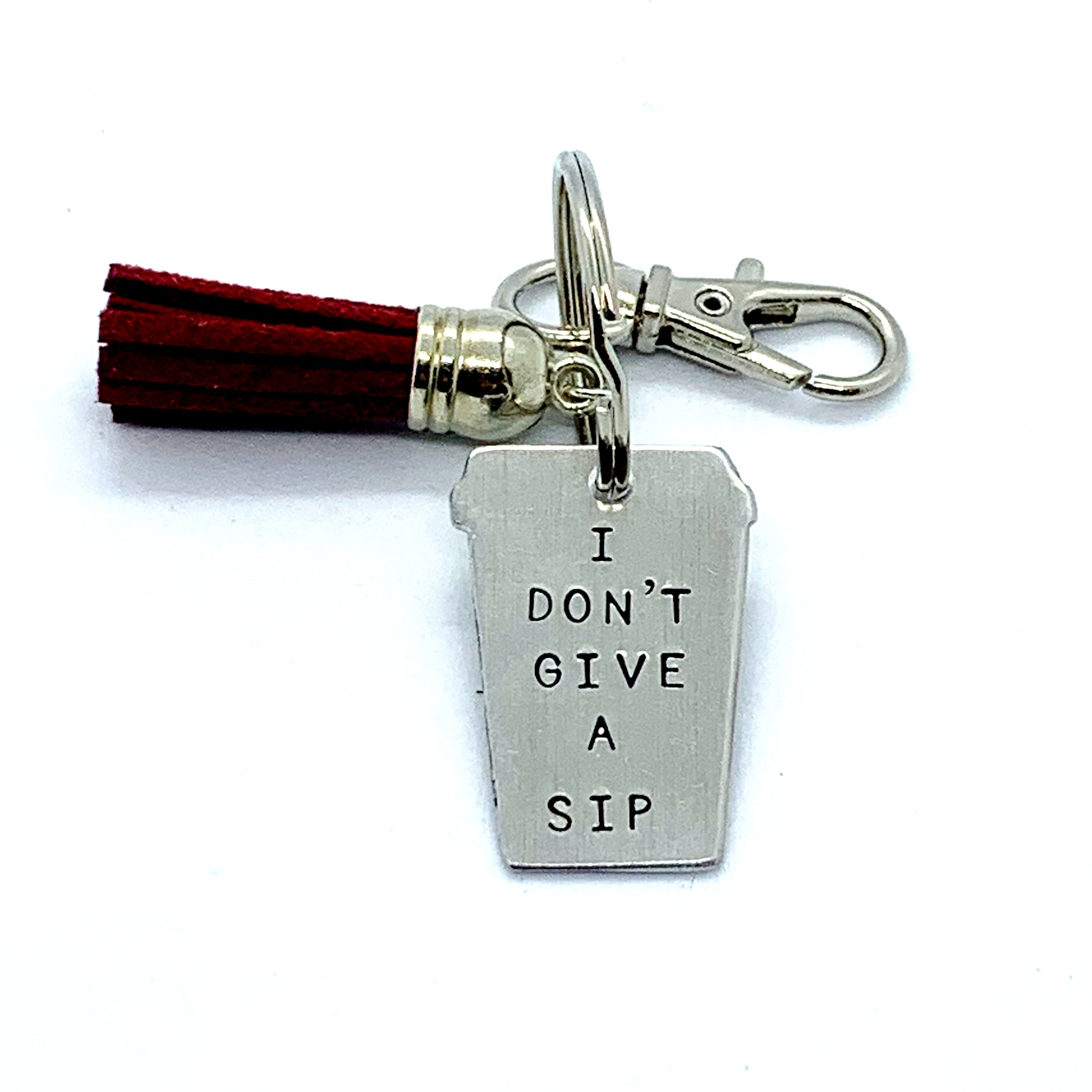 Key Chain - Small Coffee Cup - I Don't Give A Sip