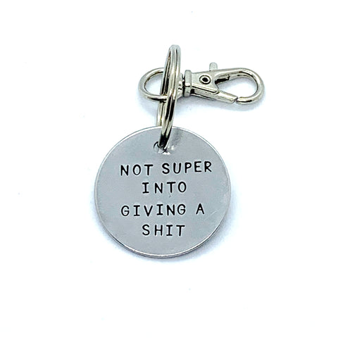 Key Chain - Simple Circle - Not Super Into Giving A Shit
