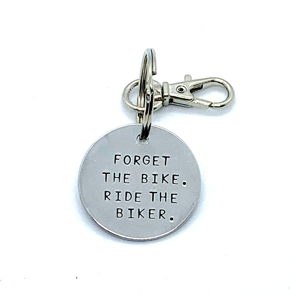 Key Chain - Simple Circle - Forget The Bike Ride The Biker