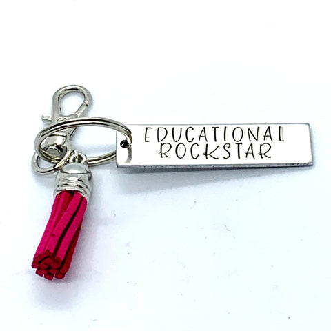 Key Chain - Small Rectangle - Educational Rockstar