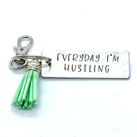 Key Chain - Large Rectangle - Everyday I'm Hustling