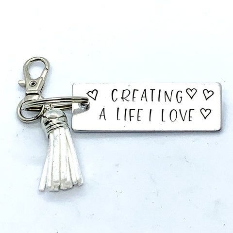 Key Chain - Large Rectangle - Creating A Life I Love
