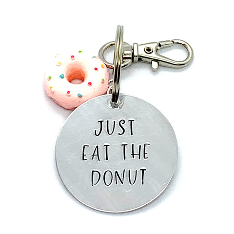 Key Chain - Circle Shape w/ Specialty Tassel - Just Eat The Donut