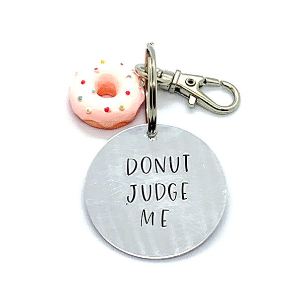 Key Chain - Circle Shape w/ Specialty Tassel - Donut Judge Me