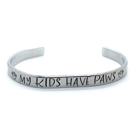 ¼ inch Aluminum Cuff - My Kids Have Paws
