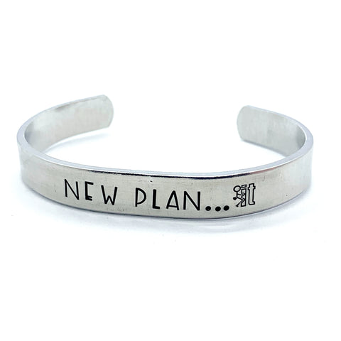 "⅜ inch Aluminum Cuff - New Plan... ""fuck it"""