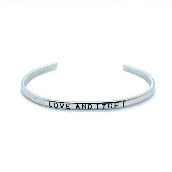 ⅛ inch Aluminum Cuff - Love And Light