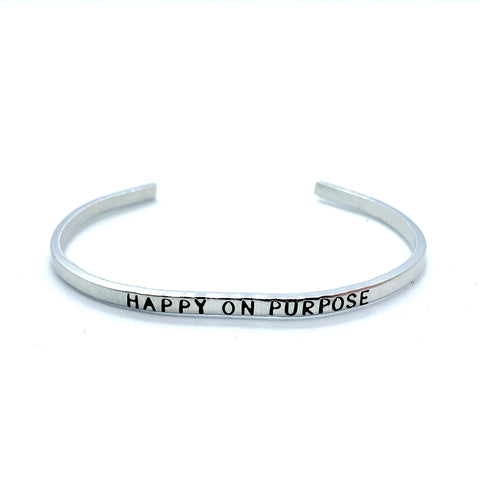 ⅛ inch Aluminum Cuff - Happy On Purpose