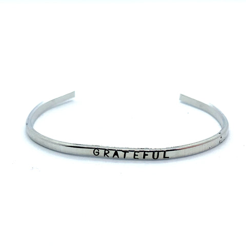 ⅛ inch Aluminum Cuff - Grateful