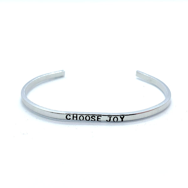 ⅛ inch Aluminum Cuff - Choose Joy