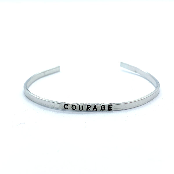 ⅛ inch Aluminum Cuff - Courage