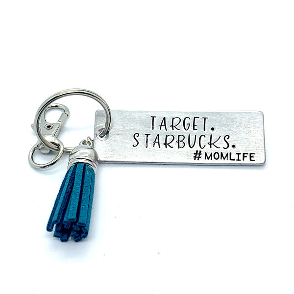 Key Chain - Large Rectangle - Target. Starbucks. #momlife