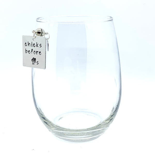 "Stemless Wine Charms - ""Single"" Set"