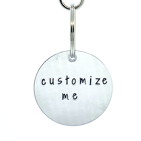Custom Key Chain with Tassel - Circle
