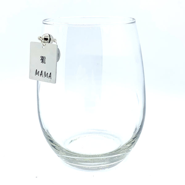 "Stemless Wine Charms - ""Mama"" Set"