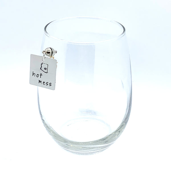 "Stemless Wine Charms - ""AZ"" Set"