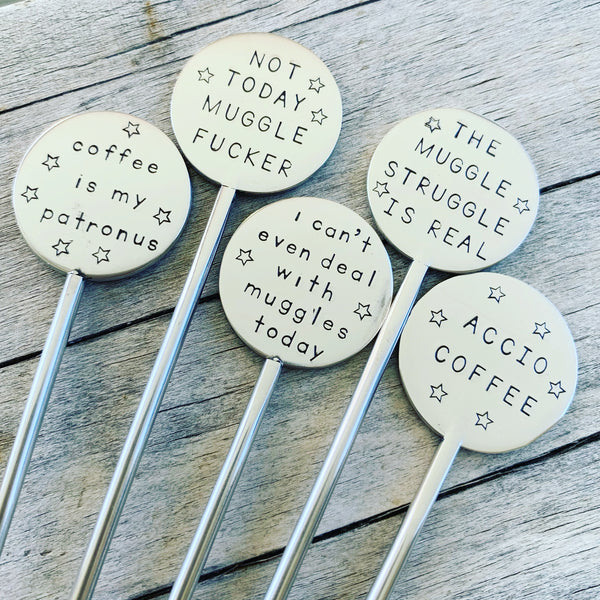 Harry Potter Coffee Stirrers ( Set of 5)