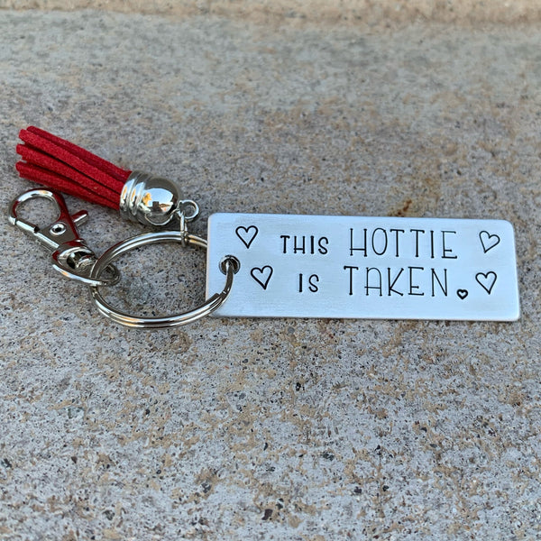 Key Chain - Large Rectangle - This hottie is taken
