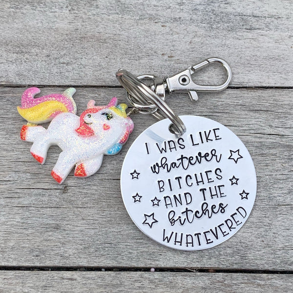 Key Chain - Circle Shape w/ Specialty Tassel - I was like whatever bitches and the bitches whateverd