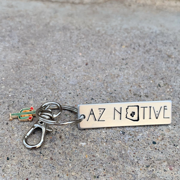 Mini rectangle keychain- AZ Native