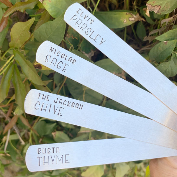 Garden a Plant Stakes- Aluminum - Set of 4 - Famous people