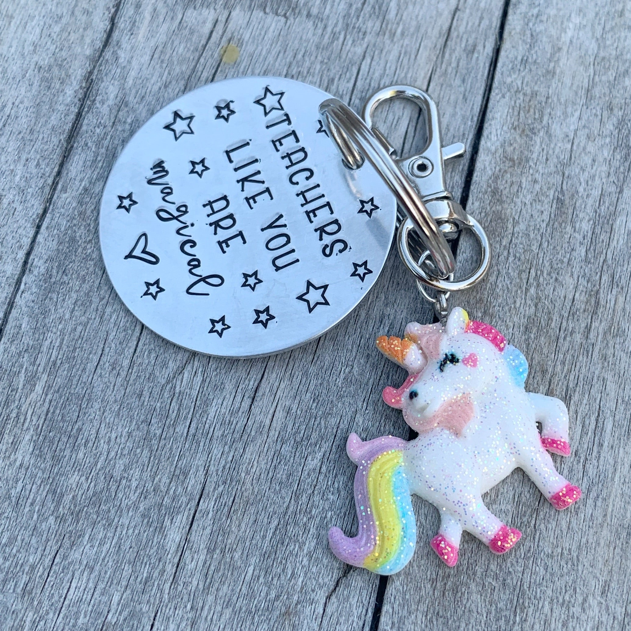Key Chain - Circle Shape - Teachers Like You Are Magical